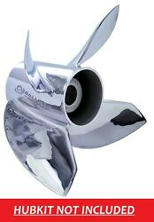 4 Blade Ballistic Xhs 14 1/8 X 25 963525 Stainless Prop Johnson 200hp And 225hp