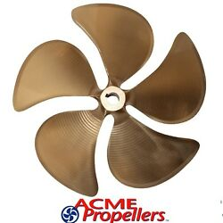 Acme 14.5 X 13.5 Inboard Propeller Right Hand Nibral Cupped 1 1/8 Bore 5 Blade