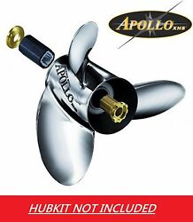 Apollo Stainless Left Hand Prop Force 75-150hp Single Exhaust 13 1/8 X 15 993153