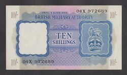 🔴great Britain 10 Shillings 1943 Au Wwii - Bma Letter 04x 972689 Ultra Rare🔴
