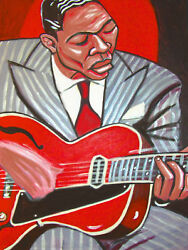 Charlie Christian Print Poster Jazz Genius Of Electric Guitar Cd Gibson Archtop