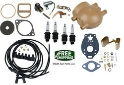Ignition Tune Up And Carb Kit Ford 9n 2n And 8n Tractor Front Mount Distributor