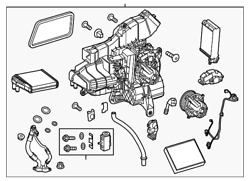 Genuine Mercedes-Benz AC & Heater Assembly 447-830-07-60