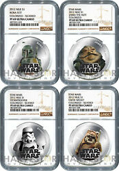2012 Star Wars Silvered 4-coin Set - Ngc Pf69 Ultra Cameo - Niue - Top Pop