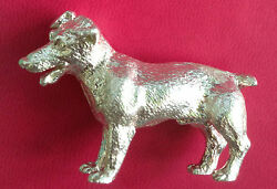 NEW  STERLING SILVER JACK RUSSELL TERRIER DOG FIGURINE