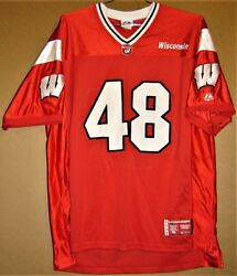 Wisconsin Badgers 48 Red Mesh College Football Jersey