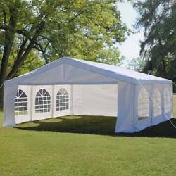 Peaktop 20'x20' Party Tent Wedding Gazebo Canopy Event Shelter With Carry Bags