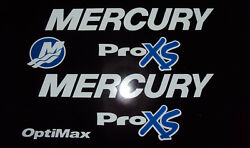 Mercury Optimax Proxs Outboard Engine Decals Pro Xs Free Usa Ship