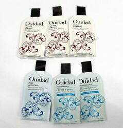 Ouidad 6 Samples Climate Control Heat Humidity Gel Curl Quencher Moisture Lock