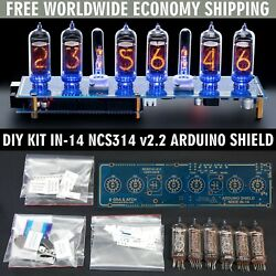Diy Kit In-14 Arduino Shield Ncs314 Nixie Clock [with Options] Free Shipping