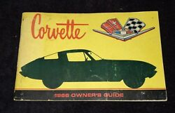 1966 Corvette Owners Manual - First Edition Part 3879852 W/ 1/2 Card