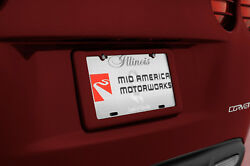 2005 Corvette C6 GM Rear Painted MAGNETIC RED License Plate Frame Holder