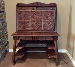 Custom Made Twig Desk And Chair