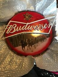 Rare 2016 The Bradford Exchange Limited Budweiser Bottle Cap Marquee Sign Light
