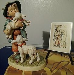 Hummel Shepherd's Boy Sold Out L.e. 13 With Easel And Plaque