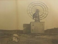 Antique Large Format Windmill Photo - Very Unique Windmill - U.s. Water Power