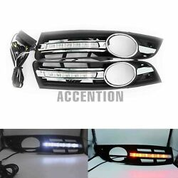 For Vw Passat B6 06-11 Led Drl Daytime Running Lights With Turn Yellow Signal