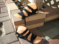BareFoot Feet Sandals - BFF II  Black - Size 9  Plus Free Gift!! $6.95