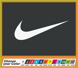 8quot; NIKE Swoosh Sneakers Clothing Sports Window truck Auto Car Stickers Decal