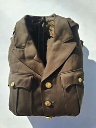 Ww2 Us Army Tunic 5th Air Corps Approx. Size 38r - Dated May/1942 - Named