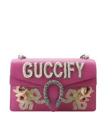Gucci 400249 Small Dionysus Pink Leather Shoulder Bag