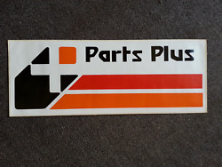 Vintage 1980and039s Parts Plus Auto Store Racing Drag Race Stock Car Sticker