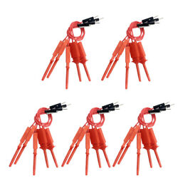 25 Pieces Mini Probe Test Hook Clip Logic Analyser Testing Grabber Male Red