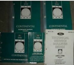 1998 LINCOLN CONTINENTAL Service Shop Workshop Repair Manual Set OEM Factory