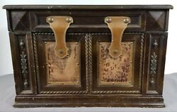 Vintage Wood With Leather Custom Made Chest Trunk. Wow