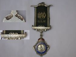 Solid Silver Masonic Jewel Medal The Grand Lodge Of England 1929.