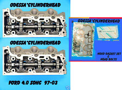 Pair Ford Explorer Mountaineer 4.0 Sohc 97-06 V6 Cylinder Heads Bolts And Gaskets