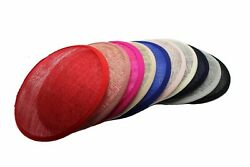 16cm Fascinator Base Small Round Disc Hat DIY Material Make Supplies Set 4 In 1