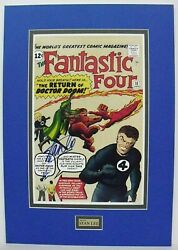 Fantastic Four 10 Poster Signed By Stan Lee. Doctor Doom. Lee And Kirby On Cover
