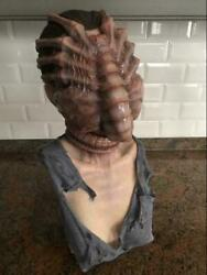 Ultra Rare Lifesize Alien Facehugger Bust Painted Signed By Lewis Frye Statue