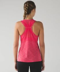 LULULEMON work the circuit tank in heathered lush coral size 12