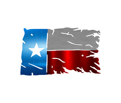Texas Tattered And Torn Flag