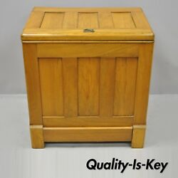 Antique Gibson Refrigerator Co. Small Oak Wood Icebox Ice Chest