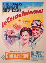 The Racers American Movies Vintage Poster For The French Market In 1955