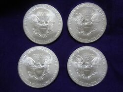 American Silver Eagle Lot - 4 1 Oz Coin 1 Dollar From Us Mint Sealed Roll Bu