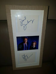 Extremely Rare The X Files Agent Mulder And Scully Autographs Framed