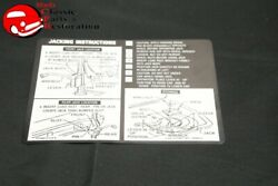 71 Chevelle Sedan And Convertible Jack Instructions Decal Gm3996913