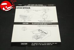 74-75 Duster Jack Instructions Decal