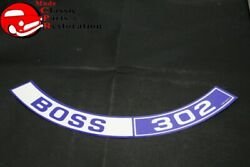70 Ford Mustang Shelby Boss 302 Ram Air Air Cleaner Decal Part Dozf-9c611-a