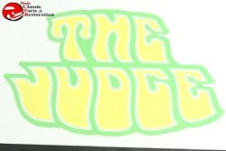 70 Pontiac Gto The Judge Deck Lid Trunk Decal 8x5 Yellow Body Graphic New