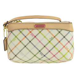 NWT Coach Peyton Tattersall Medium Wristlet Multicolor