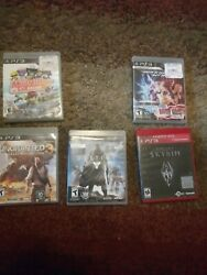 Playstation 3 Game Bundle Lot Of 5 Ps3 Video Games New/used Lot