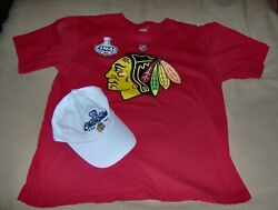Nhl Chicago Blackhawks 2010 Stanley Cup Toews T-shirt And Hat