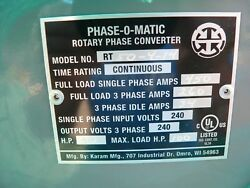 Rotary Phase Converter