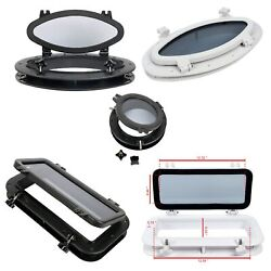 Black And White Portlight Porthole Replacement Window Port Hole Abs Tempered Glass