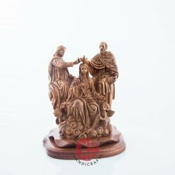 Coronation Of Virgin Mary Olive Wood Statue